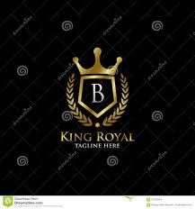 Luxury B B Lake District Grand Designs Initial B Luxury Shield Royal Logo Stock Illustration