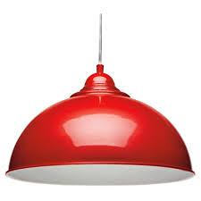 Retro Pendant Light Fitting in Red