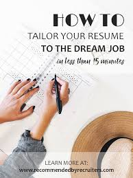 Customized Resumes Are A Key To The Successful Job Application Here