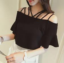 Loose Korean Fashion Women Girls <b>Off Shoulder Summer Blouses</b> ...