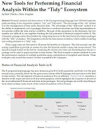 Stock Market Analysis Sample Stunning Data Science With R Course Series Week 44