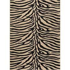 5 x 7 medium beige and black zebra print area rug elegance rc willey furniture