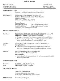 Gallery Of Social Work Resume Sample Resumes Design Samples Of