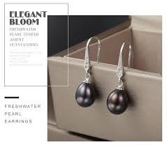 2019 <b>FEIGE</b> Vintage Natural Pearl <b>Earrings</b> For Women <b>8 9MM</b> ...