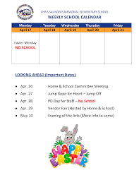School Calendar Templates Weekly School Calendar Templates At Allbusinesstemplates