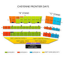 Frontier Park Seating Chart Cheyenne Frontier Days Tickets