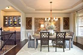 use complementary or contrasting colors to visually enhance your dining room