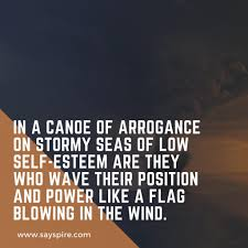 Quote On Leadership Low Self Esteem Is A Stormy Sea Sayspire Poetry