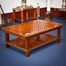 Round Seagrass Coffee Table | Beachwood Coffee Table | Nautical Coffee Table
