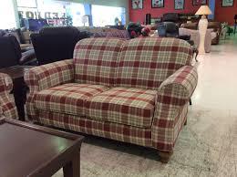 Plaid Living Room Furniture Red Plaid Sofa Christianismecelestenet