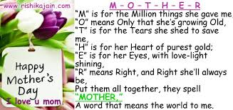 Growing Old Quotes Delectable MOTHER 'M' Is For The Million Things She Gave Me 'O' Means