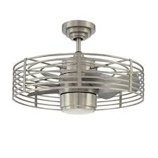 designers choice collection enclave 23 in satin nickel ceiling fan
