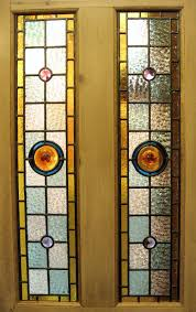 comely furniture for interior decoration with stained glass pattern for doors