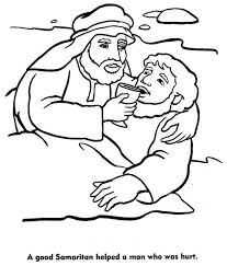 Small Picture A Good Samaritan Helped a Man Who Was Hurt Coloring Page NetArt