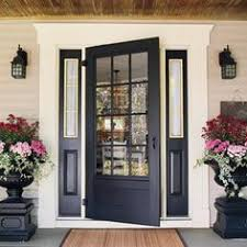 charming navy blue front door get the look with dunn edwards old mill
