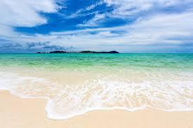 emerald sea and white beach
