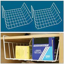 amazon pack of 2 under the shelf rack kitchen organizer basket storage bins