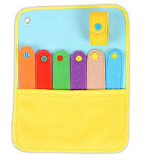 Yoovi Soft Felt Montessori Educational Toy Toddler Felt Snap Quiet Busy Book Page For Kids Daycare Preschool Kindergarten Activity Book Page Board