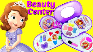 disney junior sofia the first beauty center makeup case with lip glosses nail polish and more
