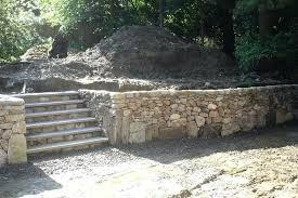 natural stone retaining wall natural stone retaining wall cost