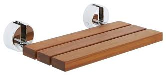 folding teak shower bench teak folding shower seat with chrome brackets teak wall mounted fold down