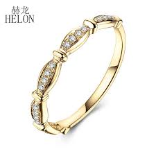 <b>HELON Exquisite Diamonds Engagement</b> Band Solid 10k Yellow ...