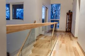 Lyndale Street House Staircase And Hand Railing Modern Modern Wood Railings  For Stairs