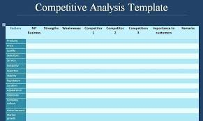 Competitor Analysis Template Xls Get Competitive Analysis Template Format Of Competitor