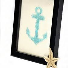 sea glass anchor art sea glass art teal anchor art teal glass