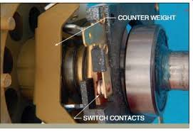 switch contacts counter weight