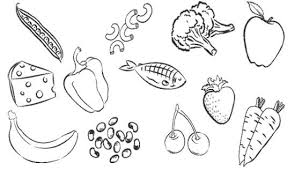Small Picture Healthy Foods Coloring Page Cool Healthy Foods Coloring Pages