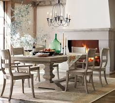 Dining table top Stainless Steel Pottery Barn Banks Extending Dining Table Gray Wash Pottery Barn