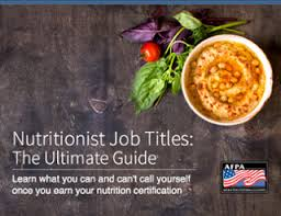 Nutritionist Job Titles: The Ultimate Guide | Afpa Fitness