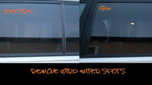 how to remove hard water spots