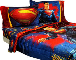 superman full size bedding set designs