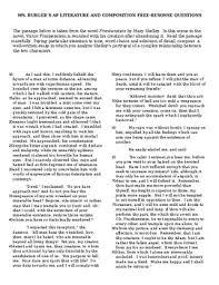 ap literature frankenstein prose essay by burger bites tpt ap literature frankenstein prose essay