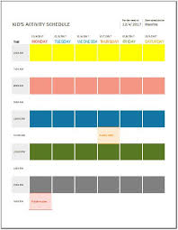 Kids Daily Weekly Monthly Activity Schedule Templates