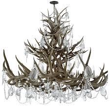 limited ion design ralph lauren grand crystal embellish antler chandelier dia 53 inches 18 lights
