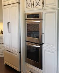 double wall oven and 42 counter depth refrigerator that has kitchenaid double wall oven and counter depth refrigerator that w custom panels