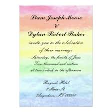 "lesbian wedding invitations & announcements zazzle Wedding Invitation Quotes For Brother Marriage ""rainbow watercolor"" wedding invitations \"