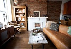 industrial style living room furniture. my houzz warm industrial style in a brooklyn apartment industrialliving room living furniture