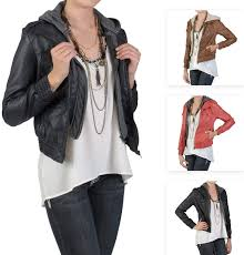 las faux leather jackets
