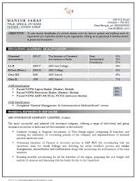 Chartered Accountant Resumes Best Chartered Accountant Resume Sample Doc With Experience