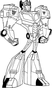 Small Picture Transformers Animated Optimus Prime Coloring Page Wecoloringpage
