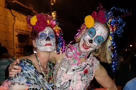 photo essay the day of the dead in oaxaca road affair two women la catrina faces in oaxaca during the day of the dead