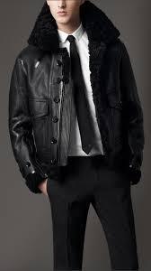 burberry shearling aviator jacket 38334311 001 iluxdb com burberry shearling