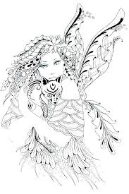 Fairy Coloring Page Pretty Fairy Coloring Pages Adult Fairy Coloring