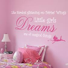 Stardust Quotes Delectable Stardust Fairy Dreams Quote Girls Wall Decals Simple Stencils