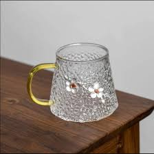 Plum Hammer Glass Cup with Water Filter ...