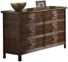 polynesian furniture. Hospitality Rattan 710-5270-ATQ Polynesian Six Drawer Dresser Furniture